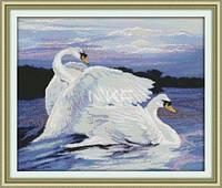 Пара лебедей   Набор для вышивки крестом