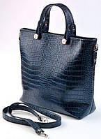 Женская кожаная сумка Синего цвета Отличное качество, фото 1