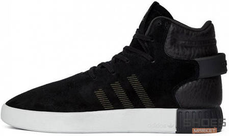 Мужские кроссовки Adidas Tubular Invader Strap Black/White BB5037, Адидас Тубулар, фото 2