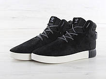 Мужские кроссовки Adidas Tubular Invader Strap Black/White BB5037, Адидас Тубулар, фото 3