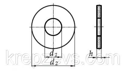 Схема шайбы DIN 9021