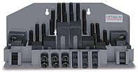 Комплект прихватов Optimum Maschinen под паз 10 мм (M 8), 58 шт