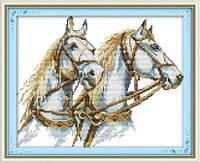 Пара лошадей   Набор для вышивки крестом