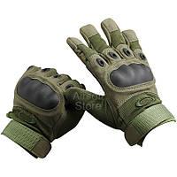 Тактические перчатки Oakley с карбоновыми вставками Олива, фото 1