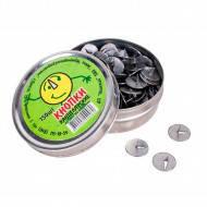 Кнопки канцелярские в металической коробке (100шт/уп)