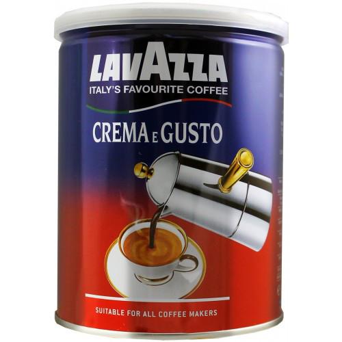 Кофе молотый Lavazza Crema e Gusto Classico в жестяной банке 250г. OriginaL