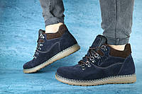 Мужские зимние ботинки Clarks 10041 Синие