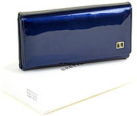 Женский кожаный кошелек BRETTON с визитницей лаковый, фото 1