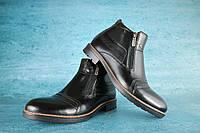 Мужские классические зимние ботинки Vivaro 10051 Черные