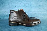 Мужские классические зимние ботинки Vivaro 10052 Коричневые