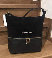 Женская замшевая сумка Michael Kors, цвет черный Майкл Корс MK