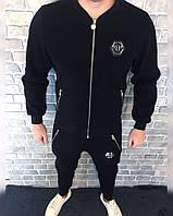 Спортивный костюм Philipp Plein бомбер D2651 черный теплый