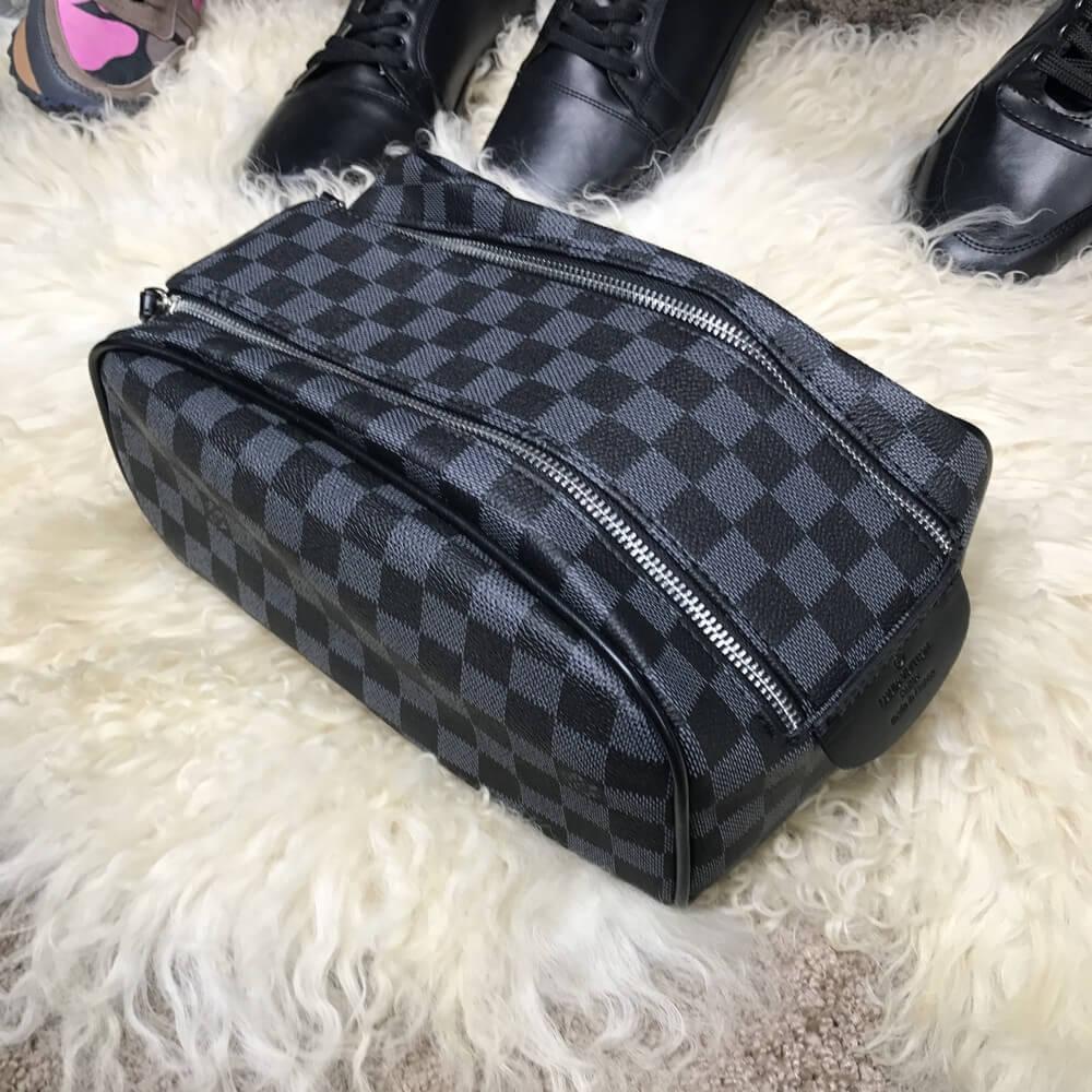 b0f50376336c Сумка-барсетка Louis Vuitton Damier Graphite 18303 серо-черная ...