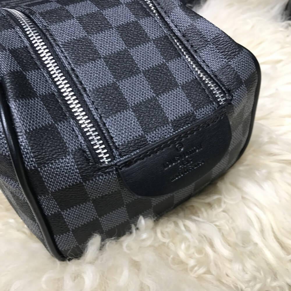 cc25f702ab7d ... Сумка-барсетка Louis Vuitton Damier Graphite 18303 серо-черная, ...
