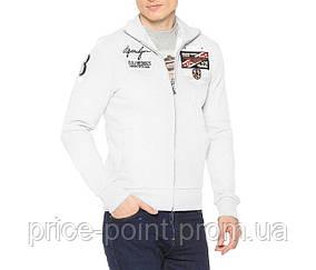 Мужская утепленная кофта на молнии, олимпийка Catbalou, цвет белый р. М
