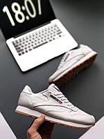 Женские кроссовки Reebok Classic Leather PM Pale Pink  , Копия, фото 1