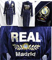 Халат банный с вышитым логотипом FC Real