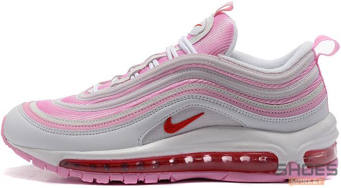 Женские кроссовки Nike Air Max 97 Pink/White, Найк Аир Макс 97