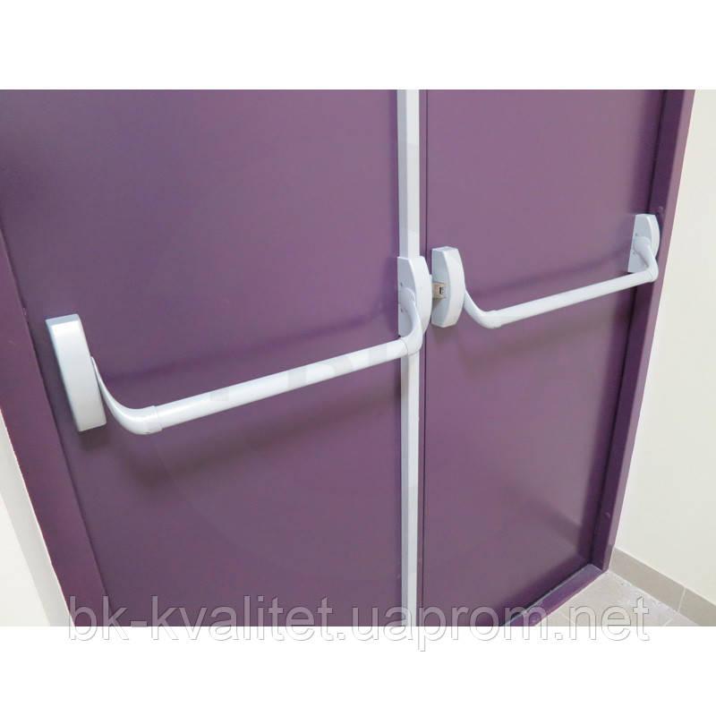 Комплект накладной антипаники Dorma, для двухстворочной двери. Без наружной ручки.