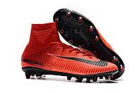 Футбольные бутсы Nike Mercurial Superfly V AG-Pro Bright Crimson/White/University Red (в стиленайк)
