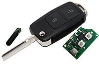 Выкидной ключ\пульт для  SEAT, 1J0 959 753 N , 1J0959753N chip ID48 433Mhz, фото 1