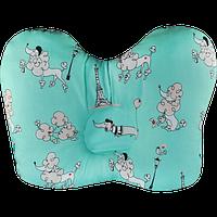 """Ортопедическая подушка для новорожденных """"Бабочка"""" в коробке. ОП-02 (арт.J2302)"""