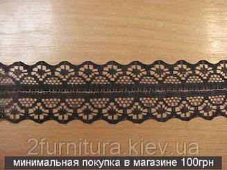 Кружево синтетика (25мм) 10м 9998 (ЧЕРНЫЙ)