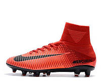 Футбольные бутсы Nike Mercurial Superfly V AG-Pro Bright Crimson/White/University Red (найк)