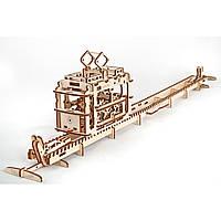 Механический 3D пазл - трамвай, Ukr-Gears (UGEARS), механический 3d пазл, 154 детали, фото 1
