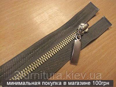 Молнии курточные металл №5 1шт  (никель) 6423 (ХАКИ, 60 см)