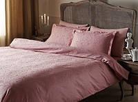 Постельное белье Tac жаккард Gardenia розовое евро размер