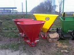 Разбрасыватель лійка минудобрений 500 л пластиковый бак Польша , фото 3
