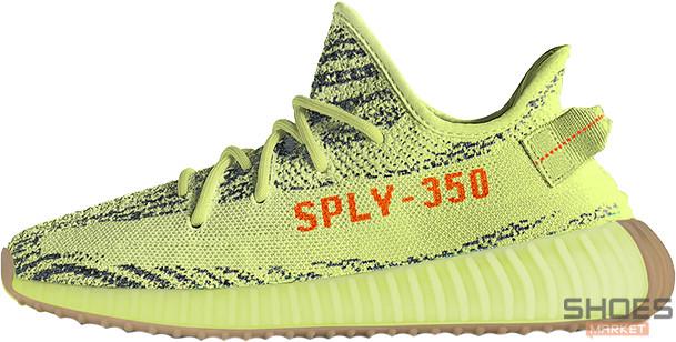 Мужские кроссовки Adidas Yeezy Boost 350 V2 Semi Frozen Yellow B37572, Адидас Изи Буст 350