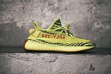 Мужские кроссовки Adidas Yeezy Boost 350 V2 Semi Frozen Yellow B37572, Адидас Изи Буст 350, фото 2