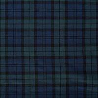 382087492 - Шотландка синяя темная в темно-бирюзовую клетку ш.145