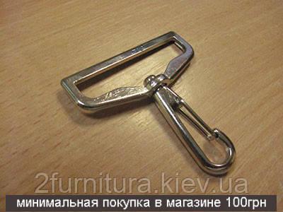 Карабины для сумок (49мм) никель, 2шт 4060