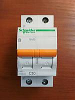 Автоматический выключатель ВА63 1полюс+N 10А  Schneider Electric серия Домовой