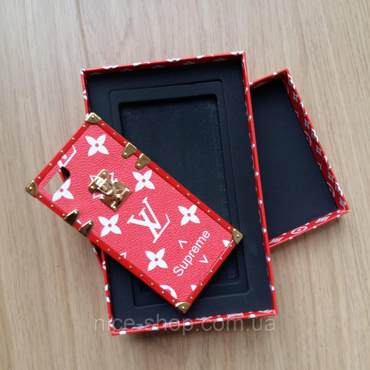 19713b1a12f0 Чехол для Iphone 6 Louis Vuitton Supreme красный в подарочной коробке