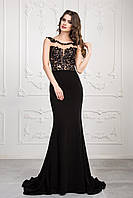 Черное элегантное вечернее платье Николь