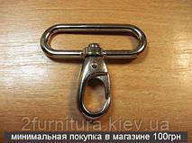Карабины для сумок (40мм) никель, 4шт 4070