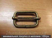 Регуляторы для сумок (25мм) антик, 100шт 87352515