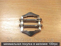 Регуляторы для сумок (19мм) никель, 10шт 4201