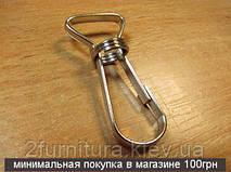 Карабины для сумок (15мм) никель, 50шт 4082