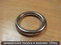 Кольца цельные для сумок (26мм) никель, 2шт 4314
