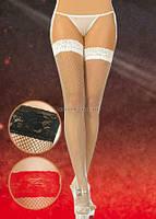 Сексапильные чулки с узорной резинкой 5517 черные 2 размер