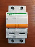 Автоматический выключатель ВА63 1полюс+N 16А  Schneider Electric серия Домовой