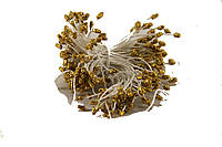 Цветочная тычинка с блестками 0,3см золотого цвета 1700шт