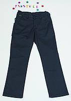 Супер-брюки синие под классику для мальчика на рост 128-158 см, фото 1