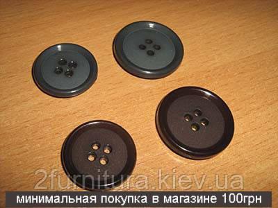 Пуговицы пластмассовые пробивные (25-30мм) 019 (КОРИЧНЕВЫЙ, 25 мм)