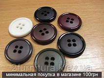 Пуговицы пластмассовые пробивные (20мм) 041 (ТЕМНО-СЕРЫЙ)